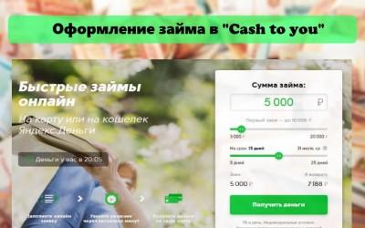 Оформление займа в Cash to you: преимущества МФО, условия сотрудничества