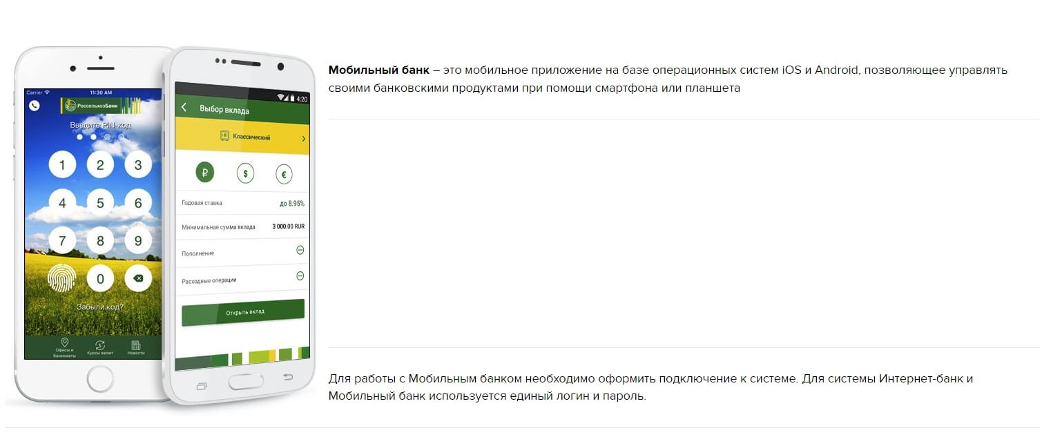 Изображение - Как зарегистрироваться и войти в клиент-банк россельхозбанка rosselhozbank-mobilnoe-prilozhenie-1
