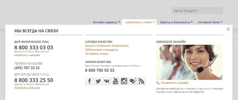 Телефон горячей линии Промсвязьбанк