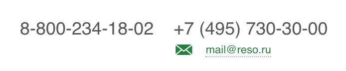 Телефон горячей линии РЕСО-Гарантия