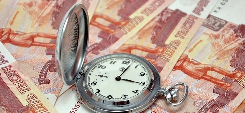 Часы и российские рубли