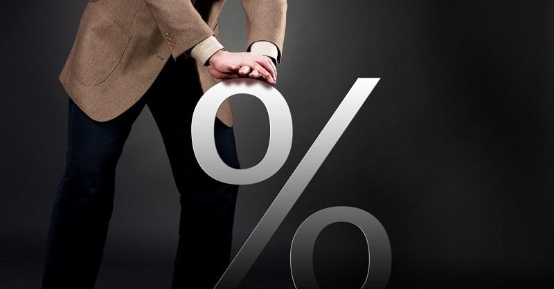 Человек пытается уменьшить процент