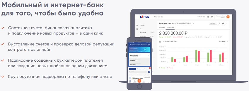 Мобильный банк в ПСБ