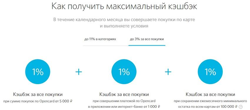 Кэшбек до 3%