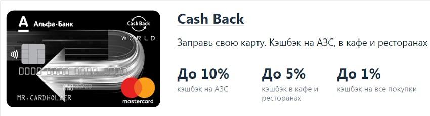 Информация по карте Cash Back