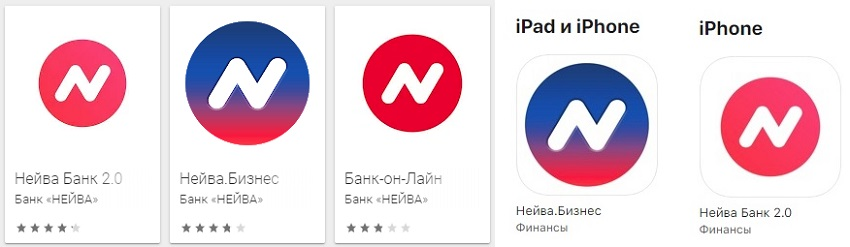 Мобильное приложение банка Нейва