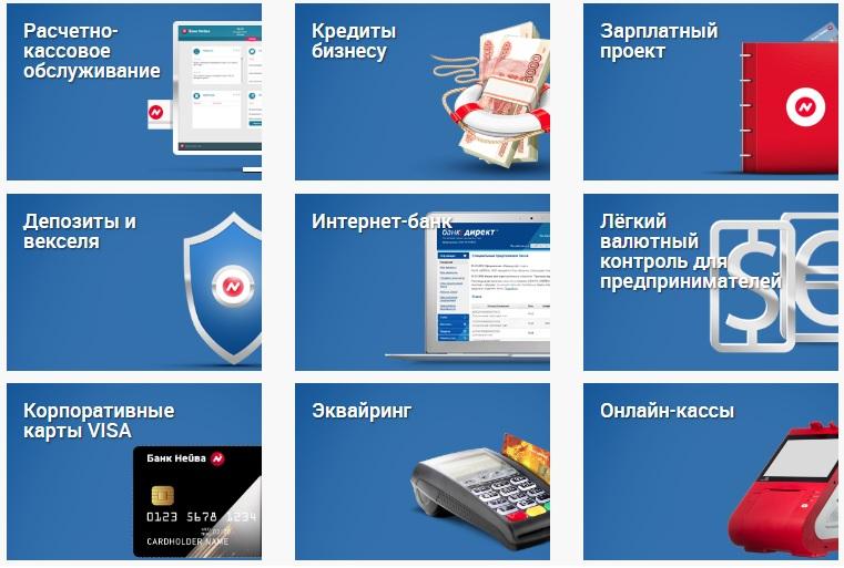 Услуги банка Нейва для бизнеса