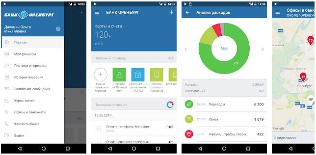 БАНК ОРЕНБУРГ мобильное приложение