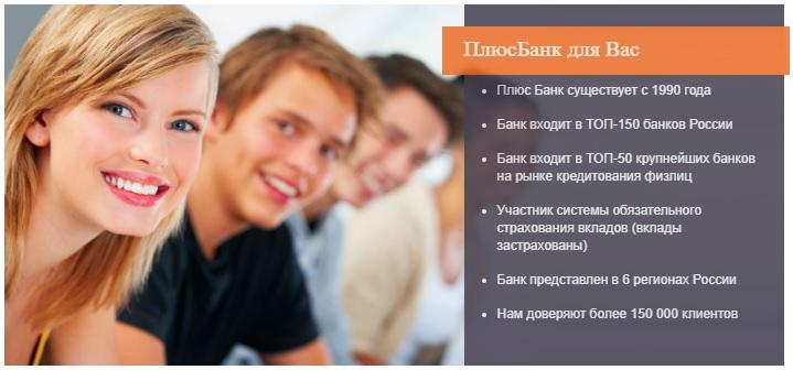 Информация о Плюс Банке