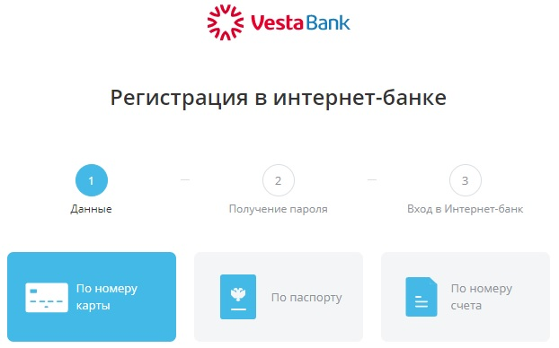 Регистрация личного кабинета Веста банка