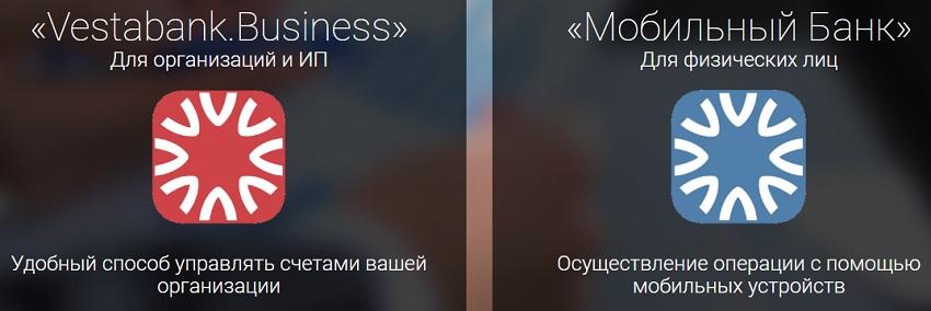 Мобильное приложение Веста банк