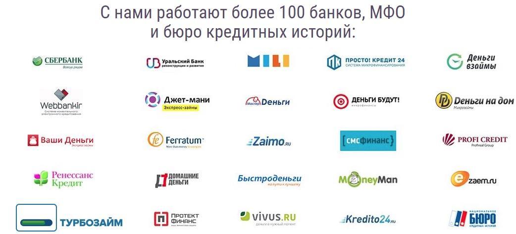 Список банков и МФО работающие с Кашалот Финанс
