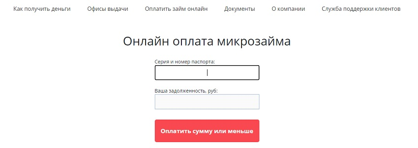 онлайн оплата микрозайма