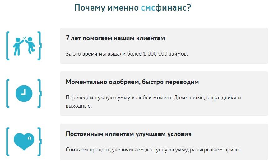 Плюсы СМСФинанс