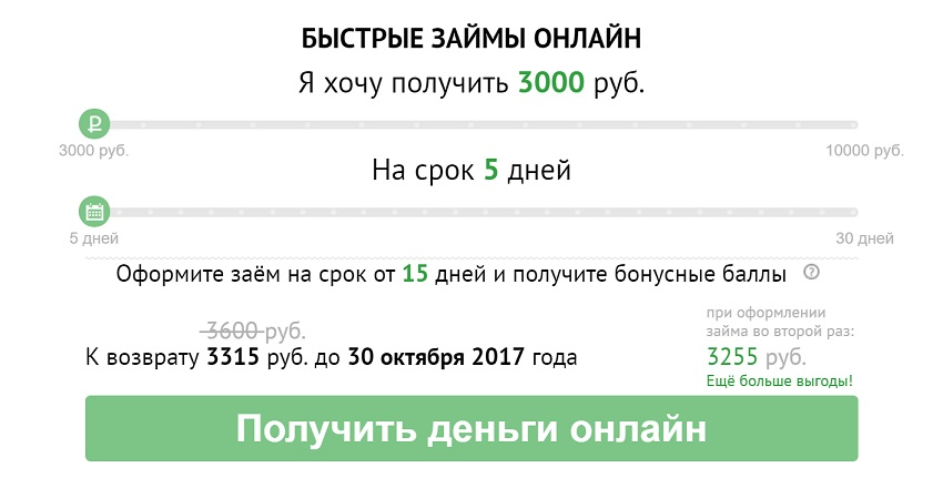 займ онлайн 3000