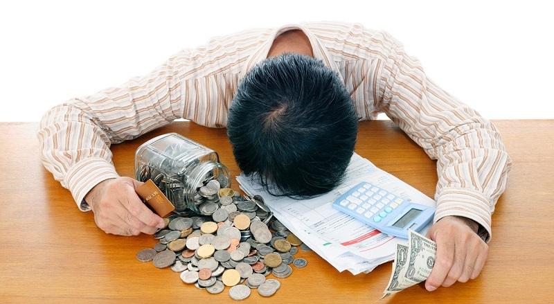 Мужчина в поиске денег
