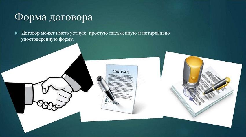 формы договора