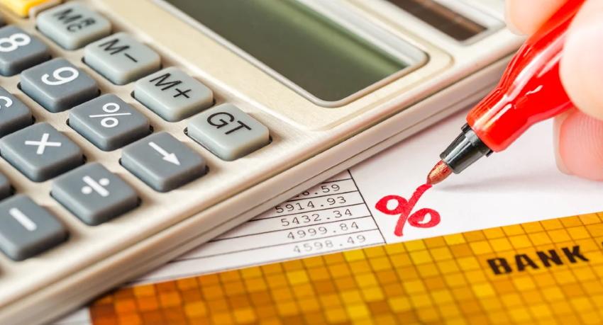 калькулятор, проценты и банк. карта
