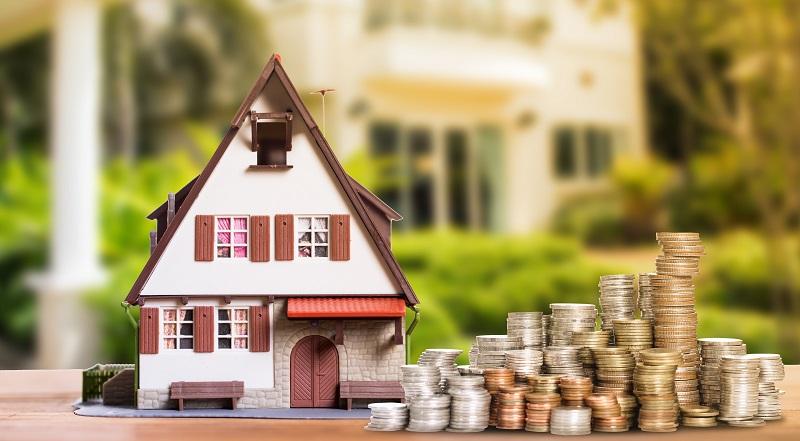 Частный дом и много денежных монет