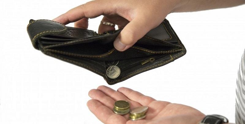 пустой кошелек без денег