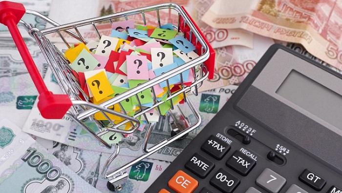 Калькулятор, деньги, вопросительные знаки