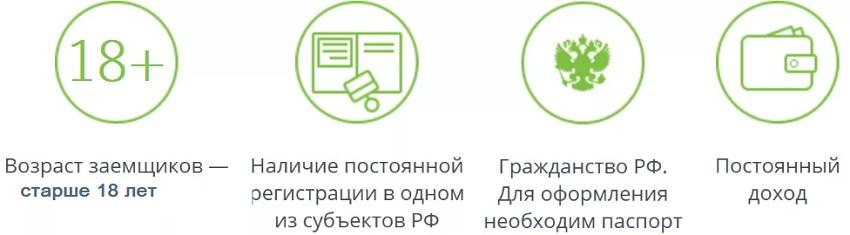 Требования к заемщику значок