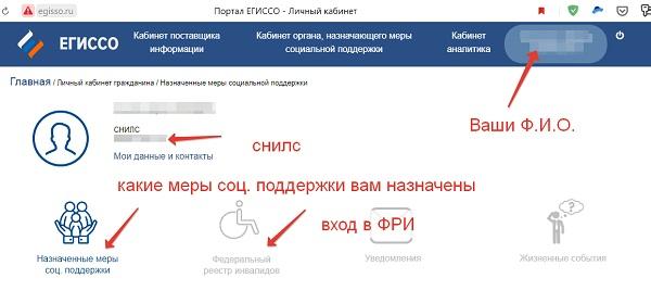 лк интерфейс егиссо