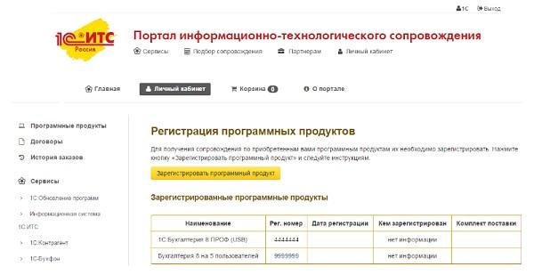 Регистрационный номер ИТС