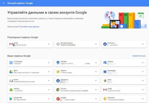 возможности лк гугл