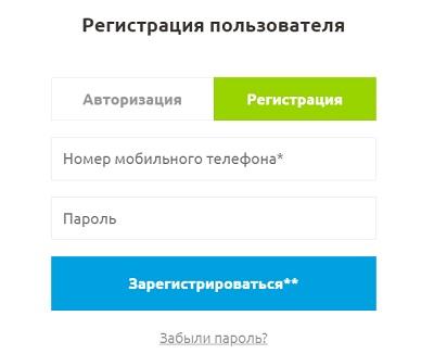 регистрация пользователя байкал сервис