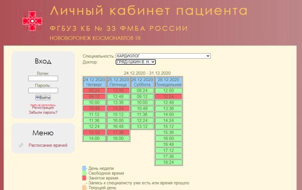 интерфейс лк мсч33