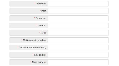 анкета регистрации башкирэнерго
