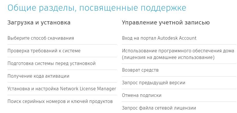 Autodesk поддержка
