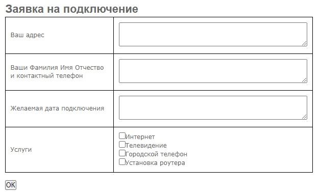 Теликс заявка