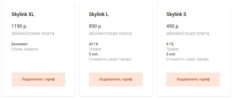 Скайлинк тариф