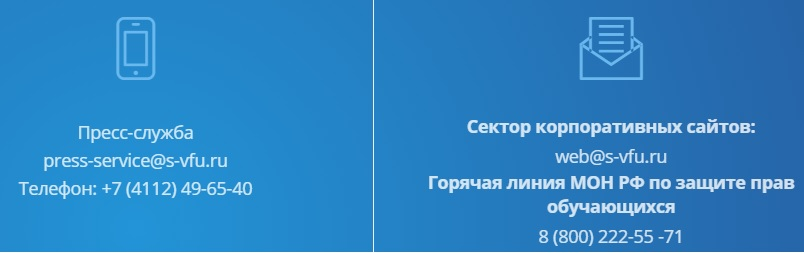 СВФУ контакты
