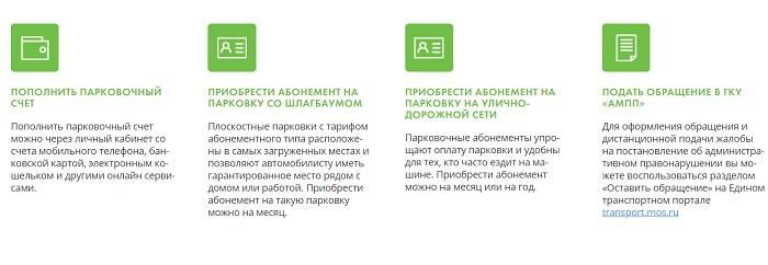 Парковки Москвы функции