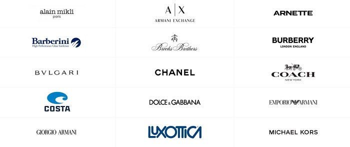 бренды очков Luxottica