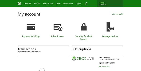 Xbox Live 360 аккаунт