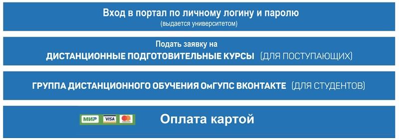 функционал портала омгупс